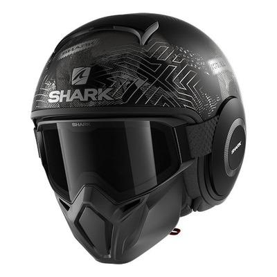 Casque jet Shark Street-Drak Krull Mat gris/noir