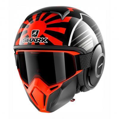 Casque jet Shark Street-Drak Réplica Zarco Malaysian GP noir/orange/anthracite