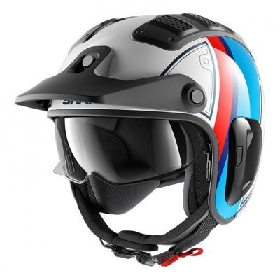 Casque jet Shark X-Drak 2 Terrence blanc/bleu/rouge