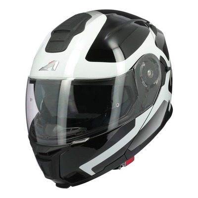 Casque modulable Astone RT1200 EVO Astar blanc/noir brillant