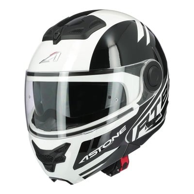 Casque modulable Astone RT800 Alias blanc/noir brillant