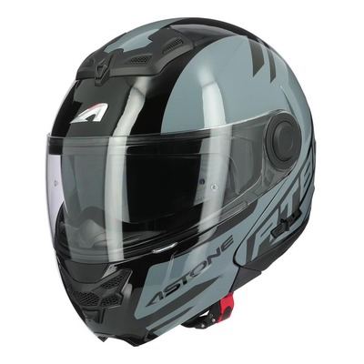 Casque modulable Astone RT800 Alias noir/gris foncé brillant