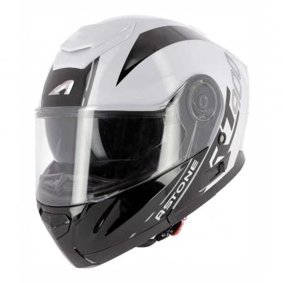 Casque modulable Astone RT900 Stripe blanc/noir