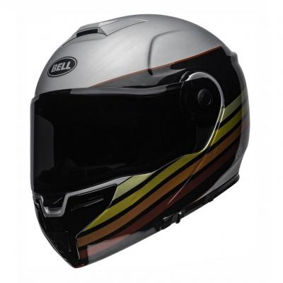 Casque modulable Bell SRT RSD Newport mat/brillant métal/rouge