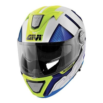 Casque modulable Givi X.23 Sydney Protect blanc/bleu/jaune brillant