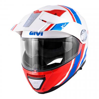 Casque modulable Givi X.33 Canyon Division blanc/rouge/bleu