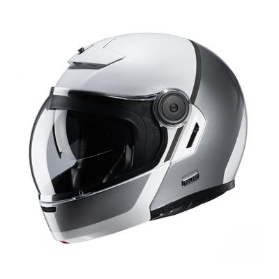 Casque modulable HJC V90 Mobix MC10 blanc/gris