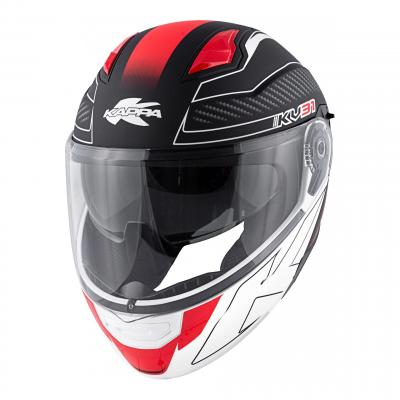 Casque modulable Kappa KV31 Arizona Bigger noir mat/blanc/rouge