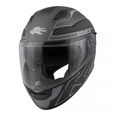 Casque modulable Kappa KV31 Arizona Bigger titanium mat/noir
