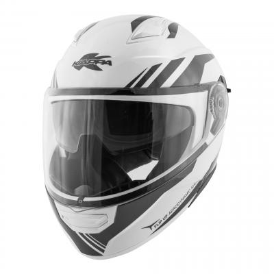 Casque modulable Kappa KV31 Arizona Phantom verni blanc