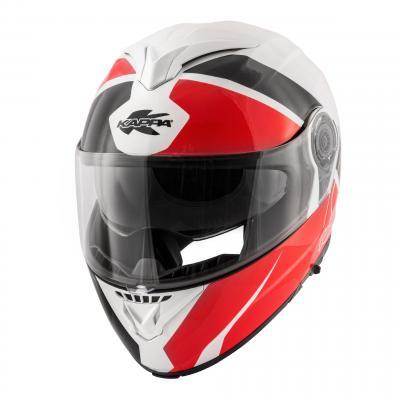Casque modulable Kappa KV32 Orlando Linear rouge verni/blanc