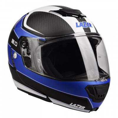 Casque modulable Lazer Monaco Evo 2.0 carbone/bleu