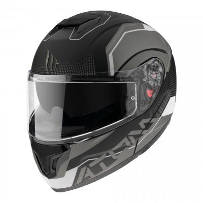 Casque modulable MT Helmets Atom SV Quark A0 noir-blanc