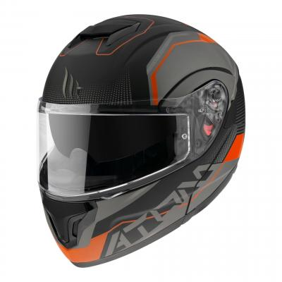 Casque modulable MT Helmets Atom SV Quark A4 noir-orange fluo mat