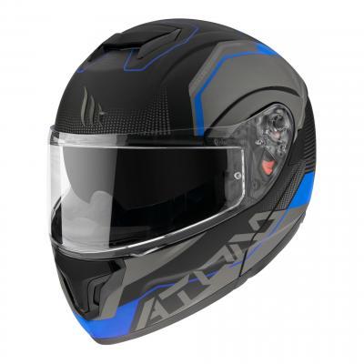 Casque modulable MT Helmets Atom SV Quark A7 noir-bleu mat