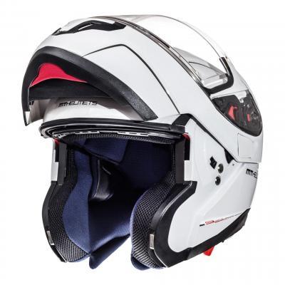 Casque modulable MT Helmets Atom SV Uni blanc brillant