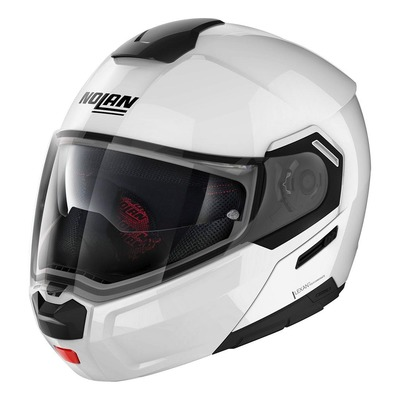 Casque modulable Nolan N90-3 Special N-Com Pure white