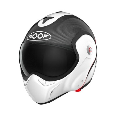 Casque modulable Roof RO9 Boxxer Carbon blanc/rouge