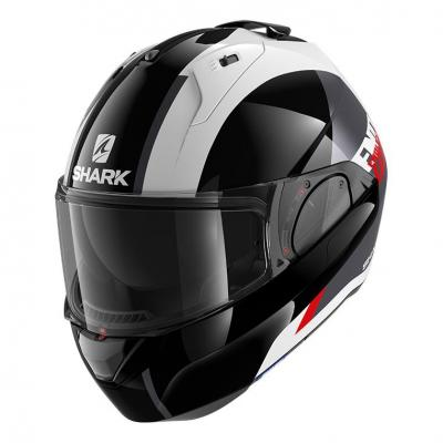 Casque modulable Shark EVO ES Endless blanc/noir/rouge