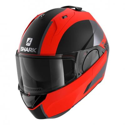 Casque modulable Shark EVO ES Mat Endless orange fluo/noir