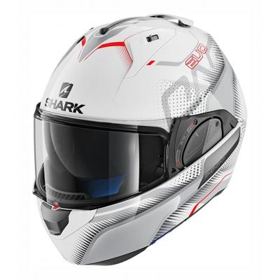 Casque modulable Shark Evo-One 2 Keenser blanc/argent/rouge