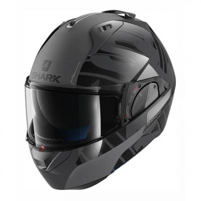 Casque modulable Shark EVO-ONE 2 LITHION DUAL anthracite/noir