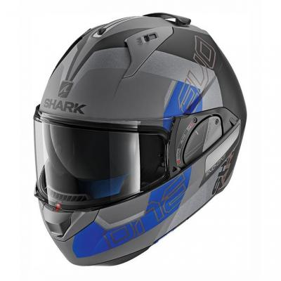 Casque modulable Shark EVO-ONE 2 SLASHER MAT anthracite/noir/bleu