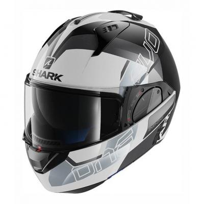 Casque modulable Shark EVO-ONE 2 SLASHER blanc/noir/argent