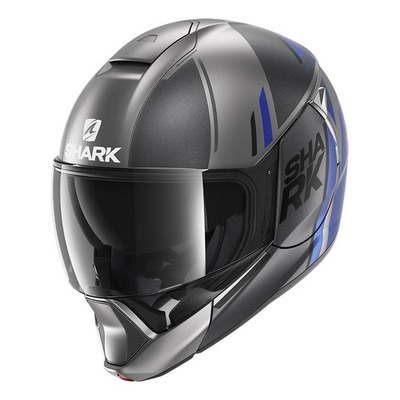 Casque modulable Shark Evojet Vyda Mat anthracite/bleu