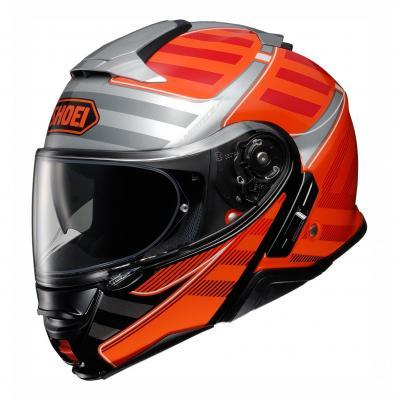 Casque modulable Shoei Neotec II Splicer TC-8 orange/rouge/gris/blanc