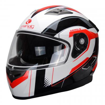Casque modulable Trendy T-706 blanc / rouge