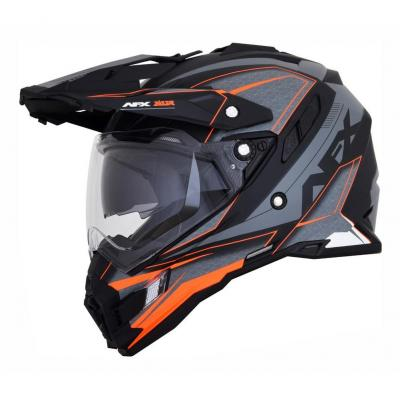 Casque trail AFX FX41DS EIGER gris/orange