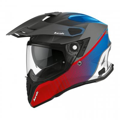 Casque trail Airoh Commander Progress bleu/rouge mat