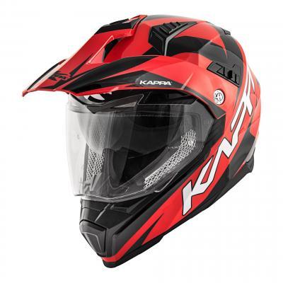 Casque trail Kappa KV30 Enduro Flash rouge/noir