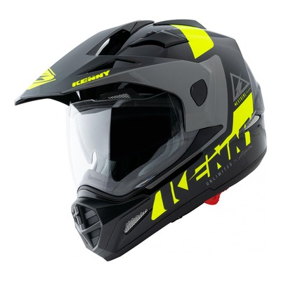 Casque trail Kenny Extreme Graphic noir/jaune fluo