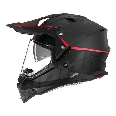 Casque trail Nox N312 Crow noir/rouge