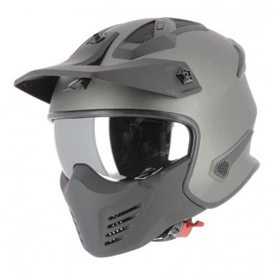 Casque transformable Astone Elektron gris gunmetal mat