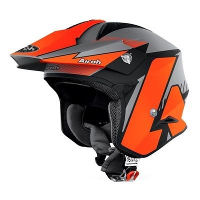 Casque trial Airoh TRR S Pure orange/gris/noir mat