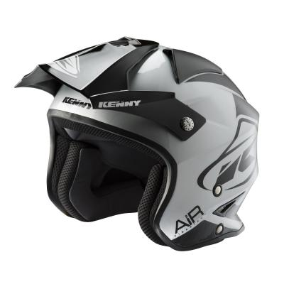 Casque trial Kenny Trial Air Graphic noir/argent