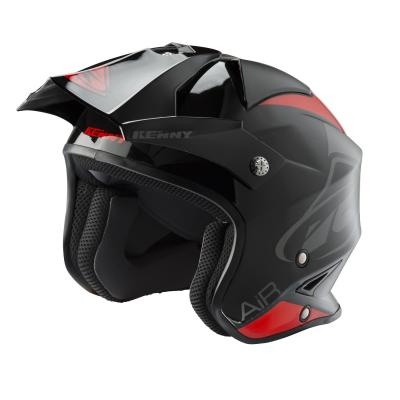 Casque trial Kenny Trial Air Graphic noir/rouge