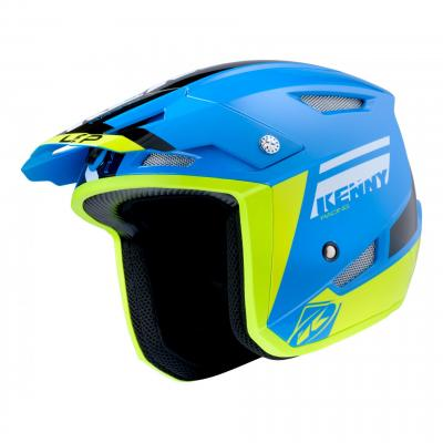 Casque trial Kenny Trial-up bleu/jaune fluo