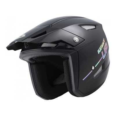 Casque trial Kenny Trial-up Graphic noir holographic brillant 2022