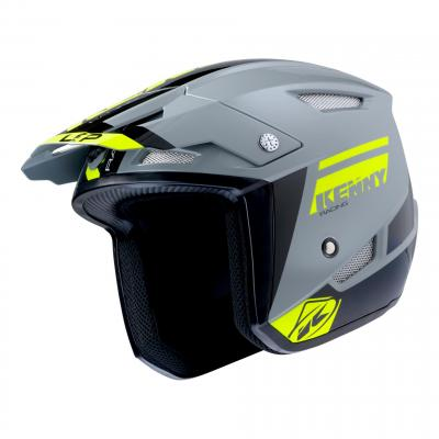 Casque trial Kenny Trial-up gris/jaune fluo