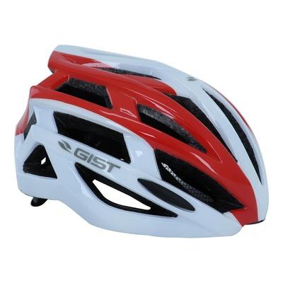 Casque vélo adulte Gist E-bike Planet blanc et rouge