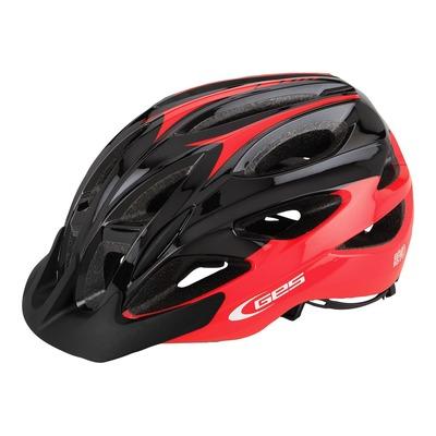 Casque vélo city Ges Revo rouge/noir