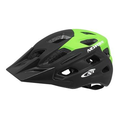 Casque vélo city Newton Anecy + éclairage diodes incorporé vert/noir mat
