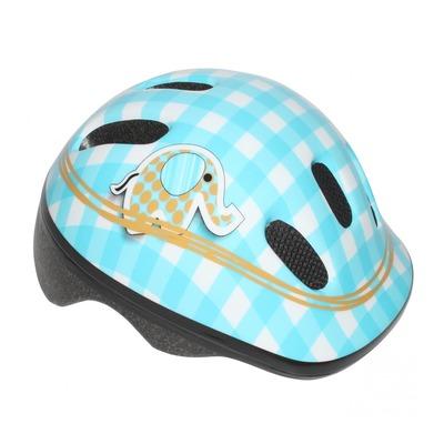 Casque vélo enfant-bébé Polisport Éléphant avec molette de réglage bleu/blanc (taille 44-48cm)