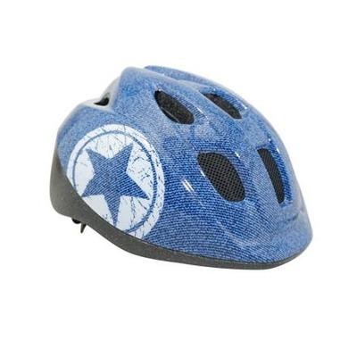 Casque vélo enfant-bébé Polisport Junior avec molette de réglage bleu jeans (taille 52-56)
