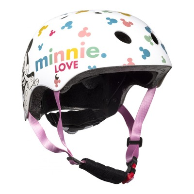 Casque vélo enfant Disney Minnie blanc (54-58cm)