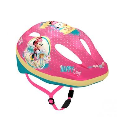 Casque vélo enfant Disney V2 Minnie avec molette de réglage rose (taille 52-56)